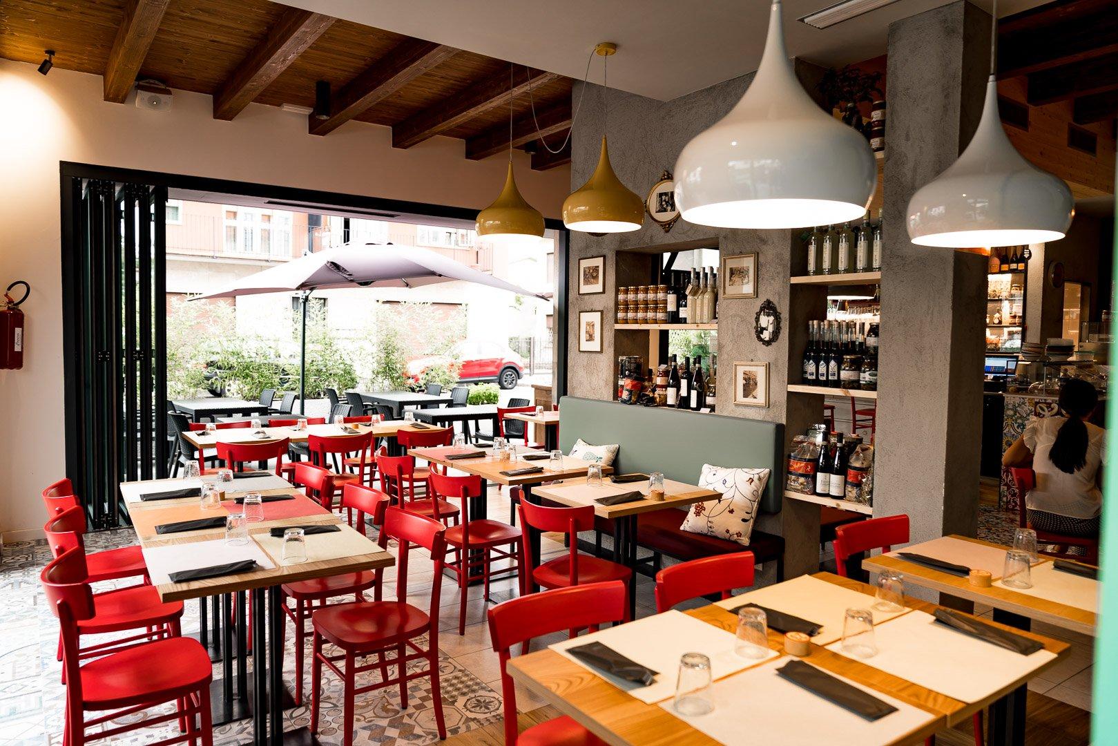 Sala tavoli la mafaldina pizzeria